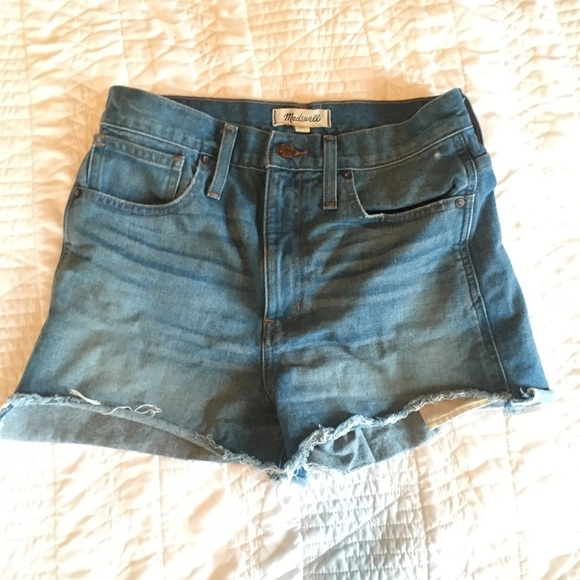 6509b945a0 Madewell Pants - Madewell Perfect Jean Shorts: Step Hem Edition